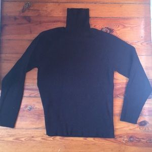 J. Crew cotton turtleneck black